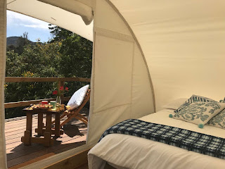 Luxury glamping tent Ctents, with bed