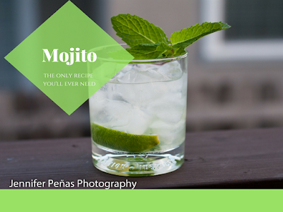 The mojito is a perfect blend of rum, lime and mint leaves.