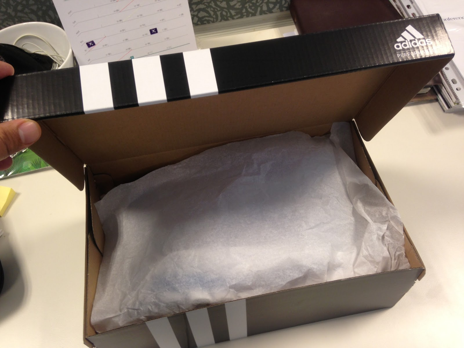 check out 0f341 16fd3 Unboxing the shoes nervous from the typical black adidas box.
