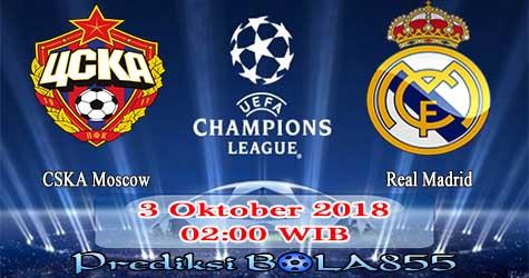 Prediksi Bola855 CSKA Moscow vs Real Madrid 3 Oktober 2018