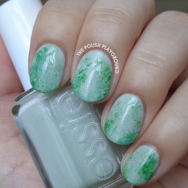 Chinese Jade Stone Inspired Nail Art