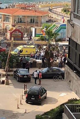 حالات اصابة ووفاة, سقوط سيارة على اخرى بالاسكندرية,