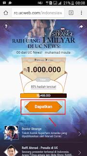 Berhadiah: Cara Mendapatkan Uang 1.000.000 di UC NEWS