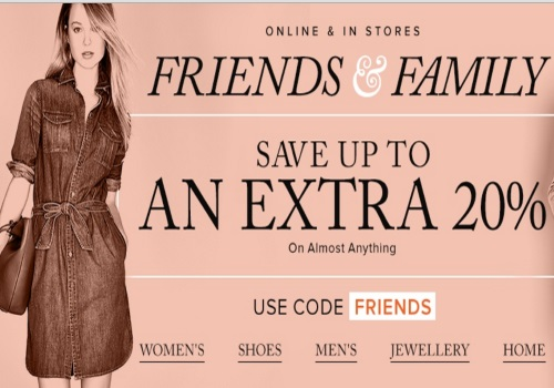 Hudson's Bay 20% Off Friends Family Event Promo Code
