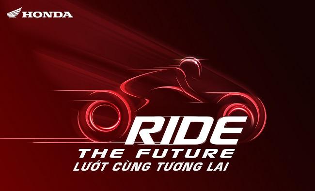 """Gian trưng bày của Honda Việt Nam với thông điệp """"Ride the Future - Lướt cùng tương lai"""""""