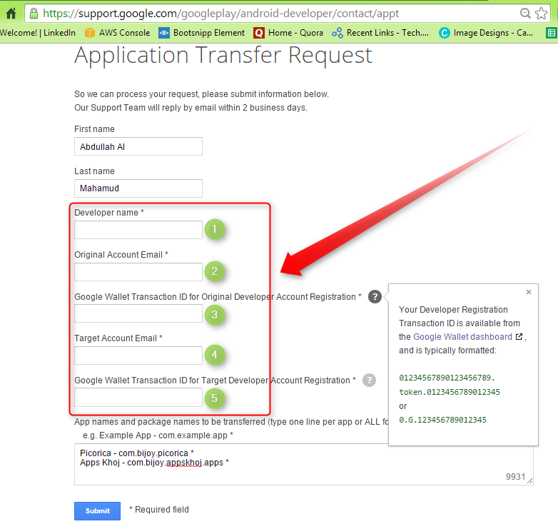 Move your applications between Google Play Developer Console