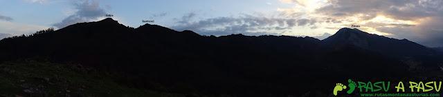 Ruta al Pico Gobia y La Forquita: Panorámica hacia la sierra del Sueve