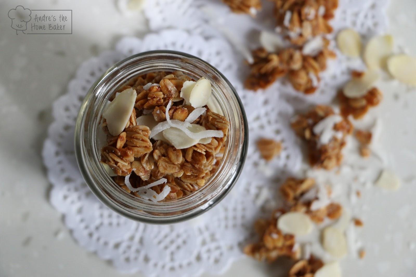 ♥ Coconut Oil Almond & Honey Granola ♥ ~ Andre's the Home Baker