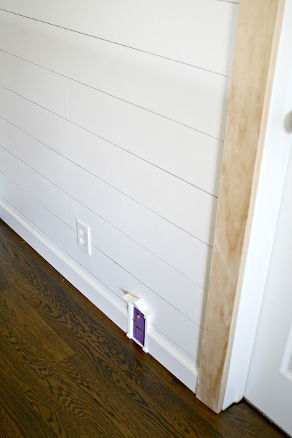 fairy door in baseboard