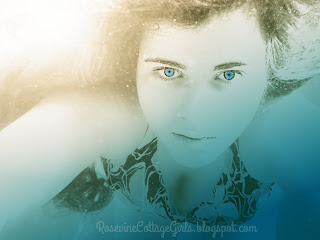 Does God Give Us More Than We Can Handle, Too Much, More Than we can handle, overwhelmed by Rosevine Cottage Girls, Image (c) Rosevine Cottage Girls | Girl under water