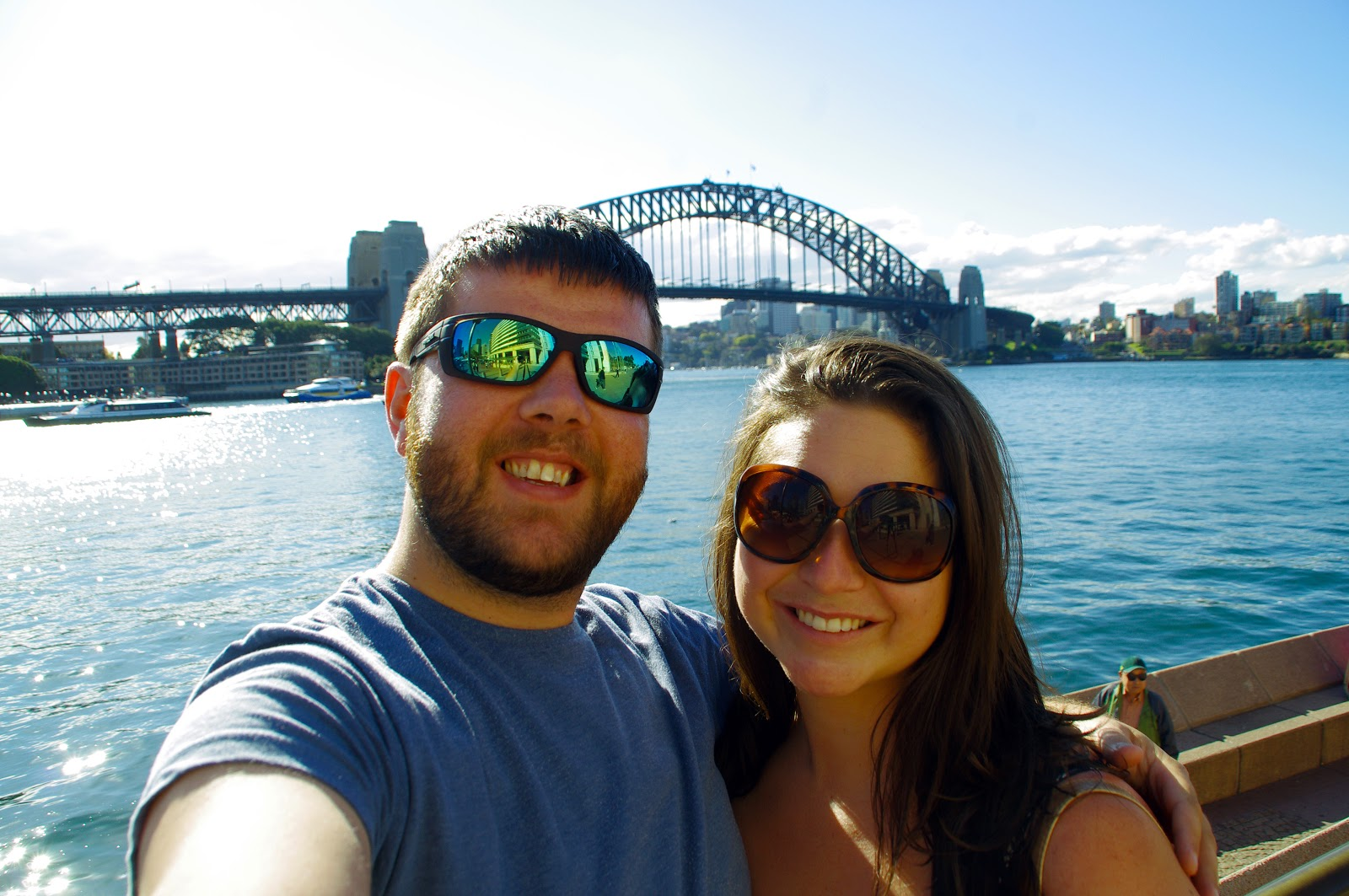 the Aussie Flashpackers at Harbour Bridge, Sydney