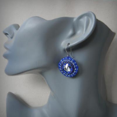 seed bead earrings beadwork beaded jewelry swarovski anabel27