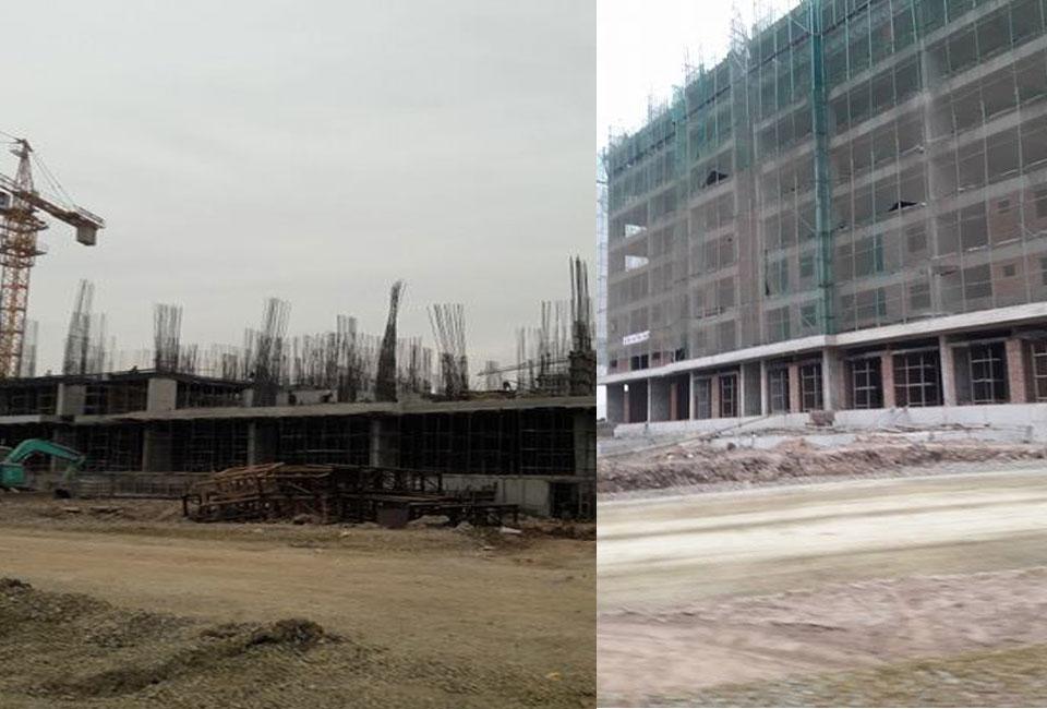 Tiến độ xây dựng chung cư B1.4 HH01A dự án Thanh Hà Cienco 5