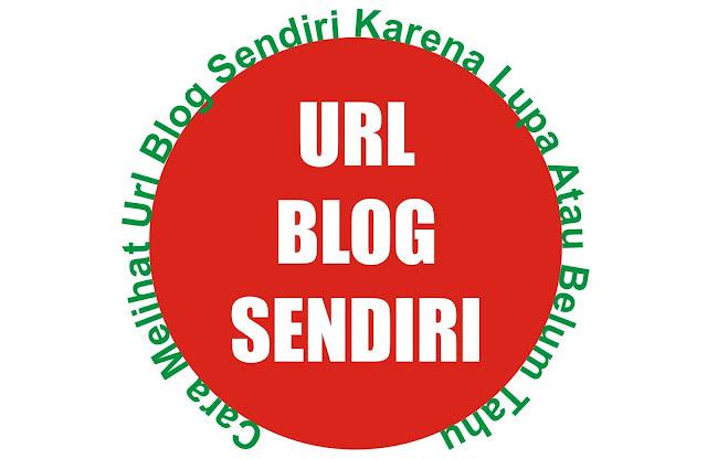 Cara Melihat Url Blog Sendiri