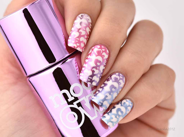 Gradient Stamping Nails /models Own Colour Chrome, スタンピングネイル