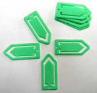 Clip de plástico con zona central rellena