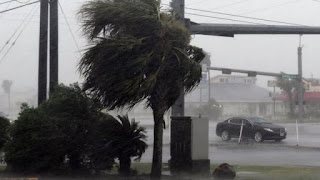 Hurricane Harvey strikes coasts of Texas