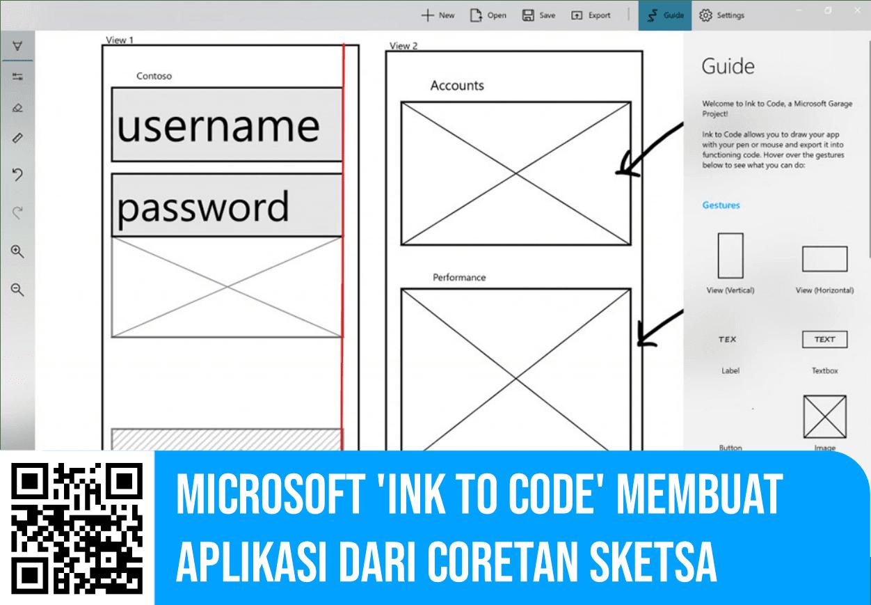 Microsoft 'Ink to Code' Membuat Aplikasi dari Coretan Sketsa