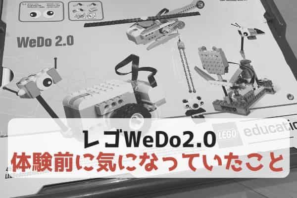 レゴWeDo2.0を使う前に気になっていたこと・気になりそうなこと