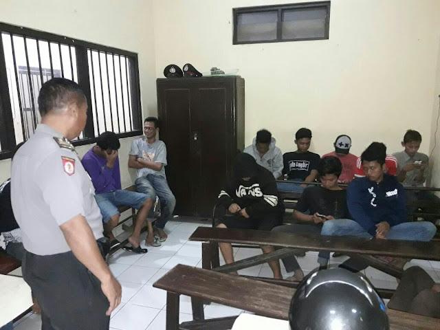 Asik Pesta Miras, 8 Orang Masih Dibawah Umur di Gelandang Polisi