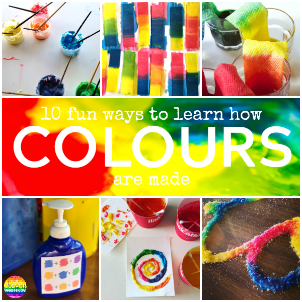 10 Fun Ways to Learn How to Colours Are Made - simple hands-on way to teach children how to make secondary colors | you clever monkey