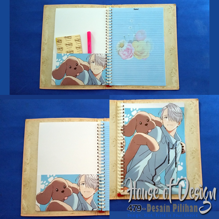 KANTONG BINDER 26 RING UKURAN B5 MAKKACHIN YURI ON ICE CUSTOM MURAH