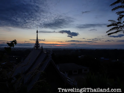 View over Mae Sai in North Thailand