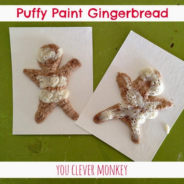 Make your own puffy paint gingerbread people this Christmas | you clever monkey