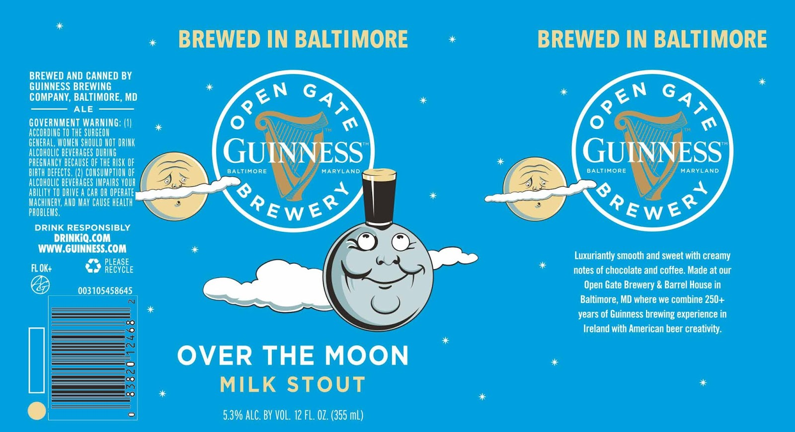 Guinness Open Gate Baltimore Adding Over The Moon Milk Stout