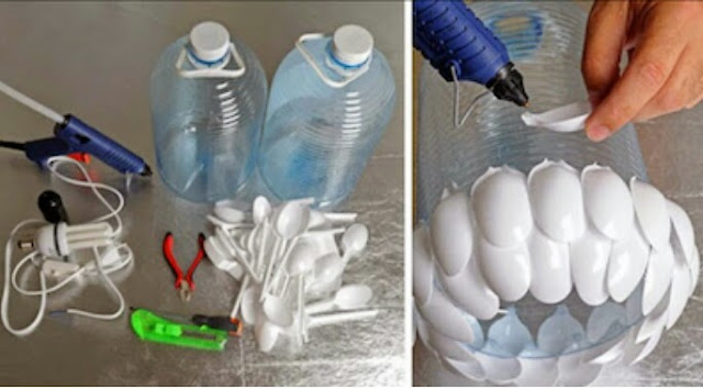 How to make decorative lights from plastic bottles