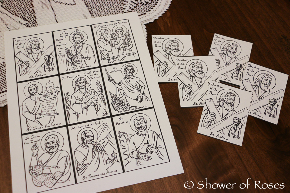 saint andrew holy cards from stellamarigoldart