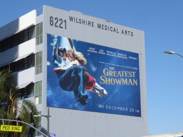 Greatest Showman giant movie billboard