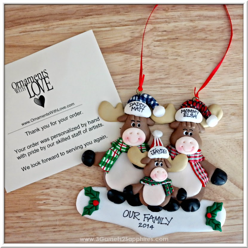 Personalized Moose Family Tree Ornament from Ornaments With Love