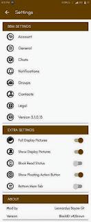 Mod BBM Simple Brown v3.1.0.13 BlackID Fitur Clear RAM