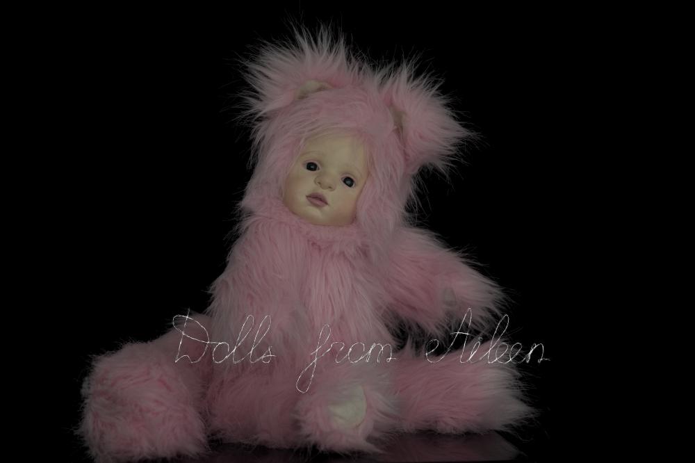 ooak artist kitten teddy doll with fluffy tail