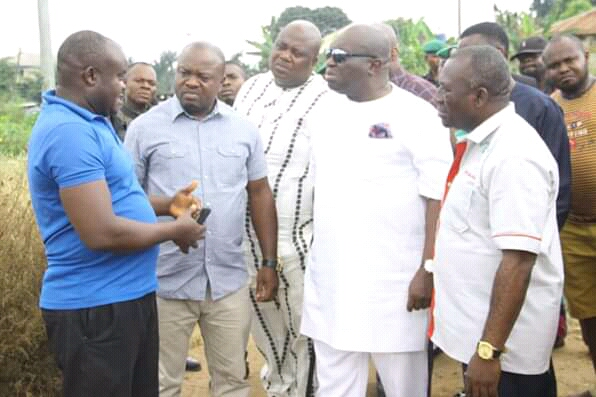 @GovernorIkpeazu visits Osisioma Pipeline explosion sites ...calls for inquiry, pay hospital bills