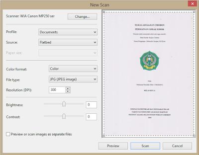 scan dokumen menggunakan printer canon