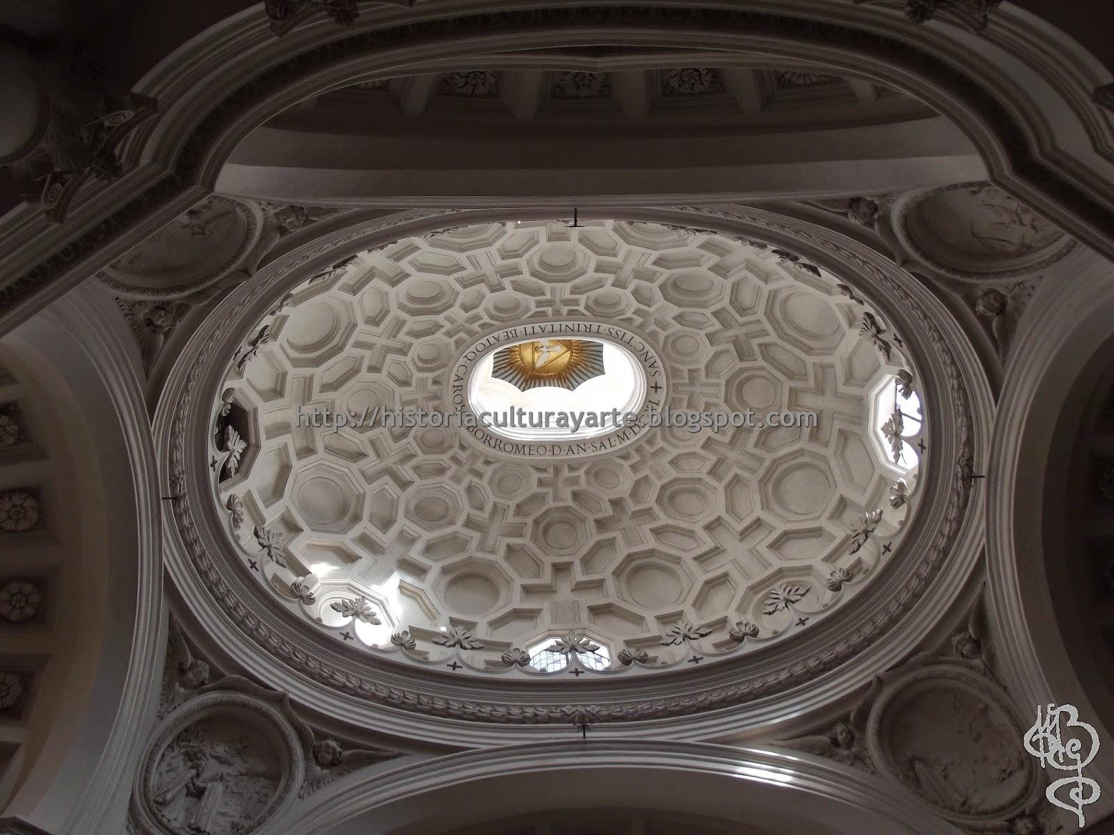 Interior de la cúpula de San Carlo alle Quattro Fontane