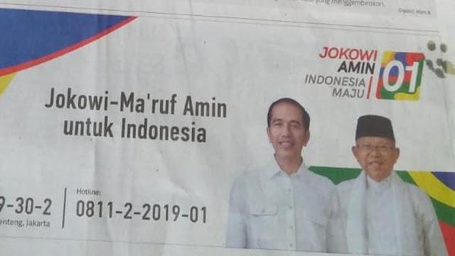 KPU Anggap Iklan Tim Jokowi di Koran Langgar Aturan Kampanye