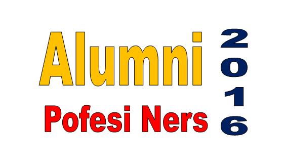 Daftar Alumni Profesi Ners Angkatan ke 2 Wisuda Tahun 2016