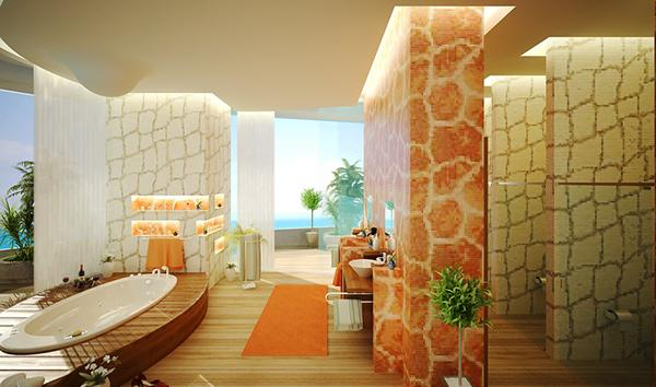 Kamar mandi nyaman tema gurun