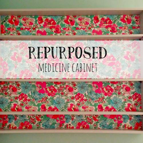 Main Bathroom Redo - Repurposed Medicine Cabinet
