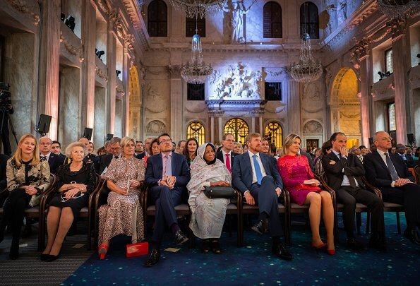 Queen Maxima wore Claes Iversen dress. Princess Beatrix, Princess Laurentien and Princess Mabel, Kamala Ibrahim Ishaq