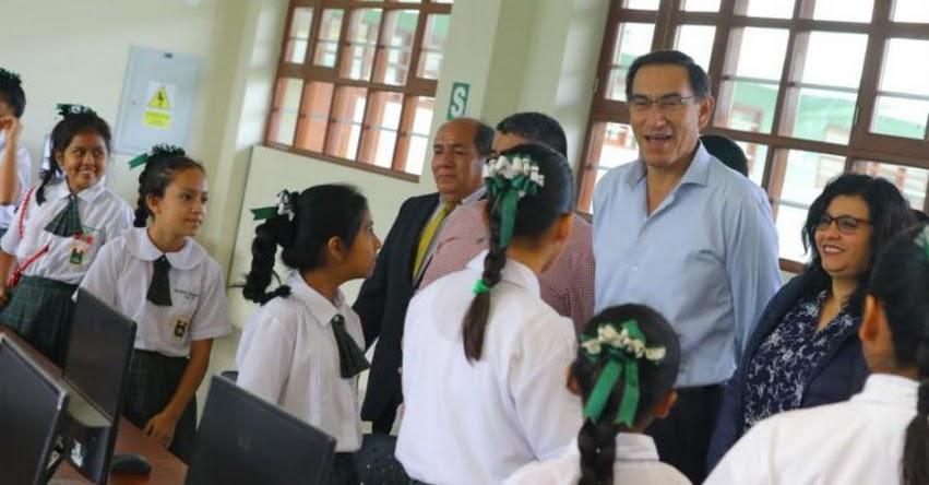 La educación es una responsabilidad compartida, afirma presidente Martín Vizcarra