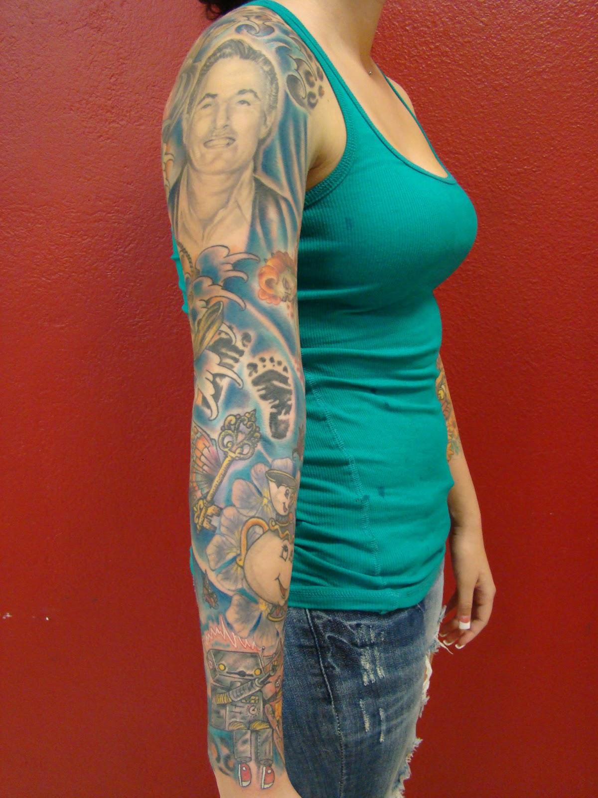 Tattoos By Brent Senkbeil : Girls Full Color Sleeve