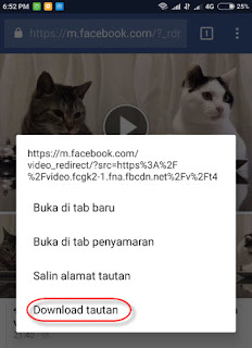 cara download video facebook via android