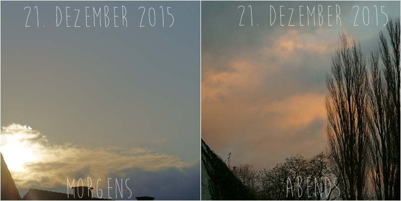 Blog + Fotografie by it's me! - Morgenhimmel am 21.12.2015