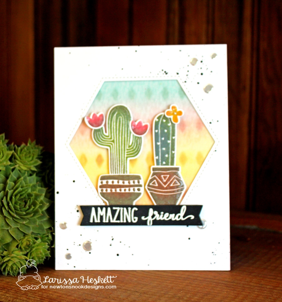 Amazing Friend Cactus Card by Larissa Heskett | Cultivated Cacti Stamp set by Newton's Nook Designs #newtonsnook #handmade