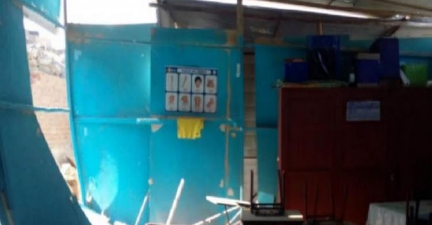 Suspenden clases en colegio N° 82210 «Karina Violeta Damián Alayo» de La Libertad por colapso de aulas