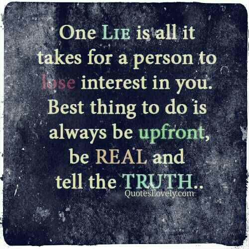 One lie is all